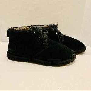 Ugg Neumel Black Lace Up Chukka Boots Size 9